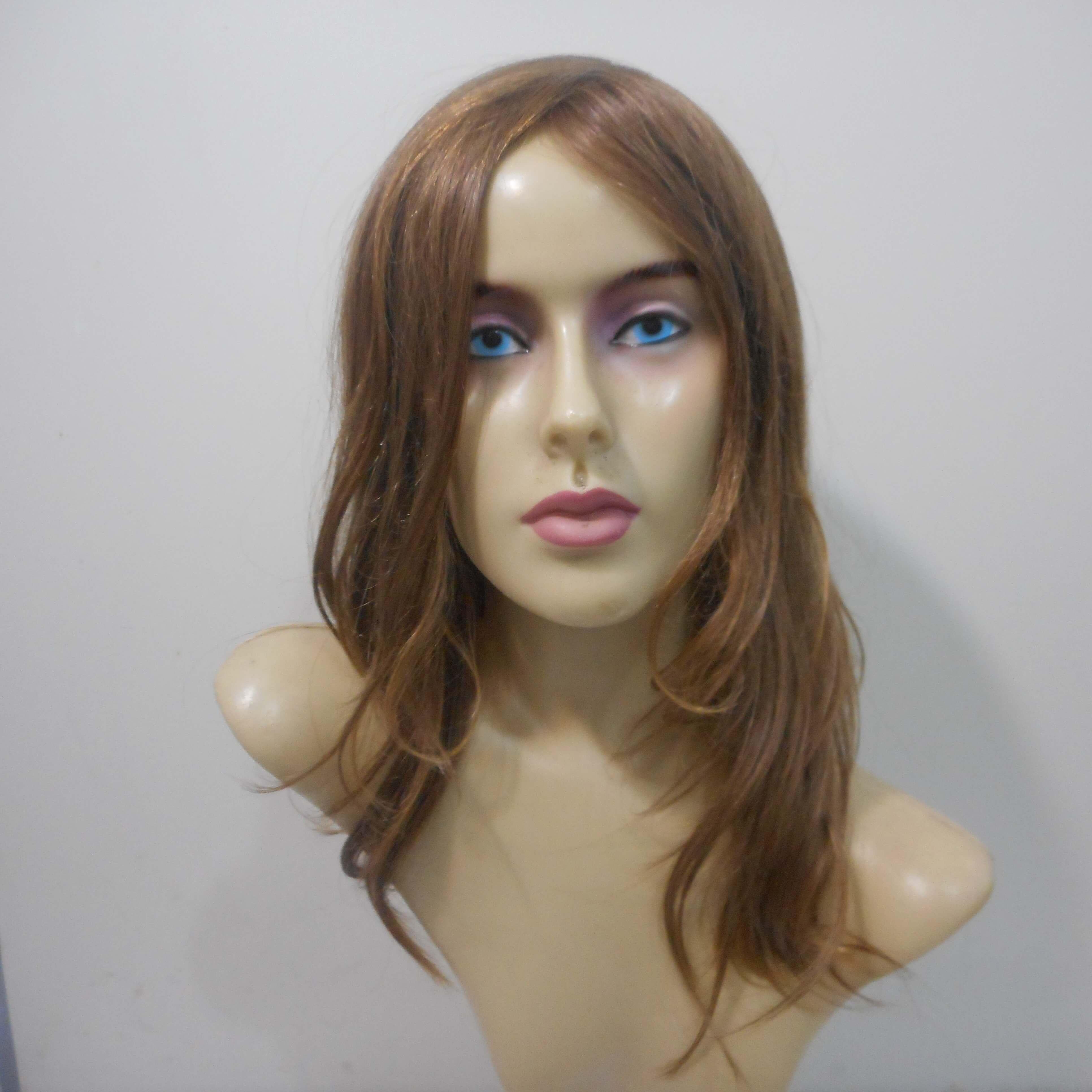 Peruca de cabelo natural loiro claro
