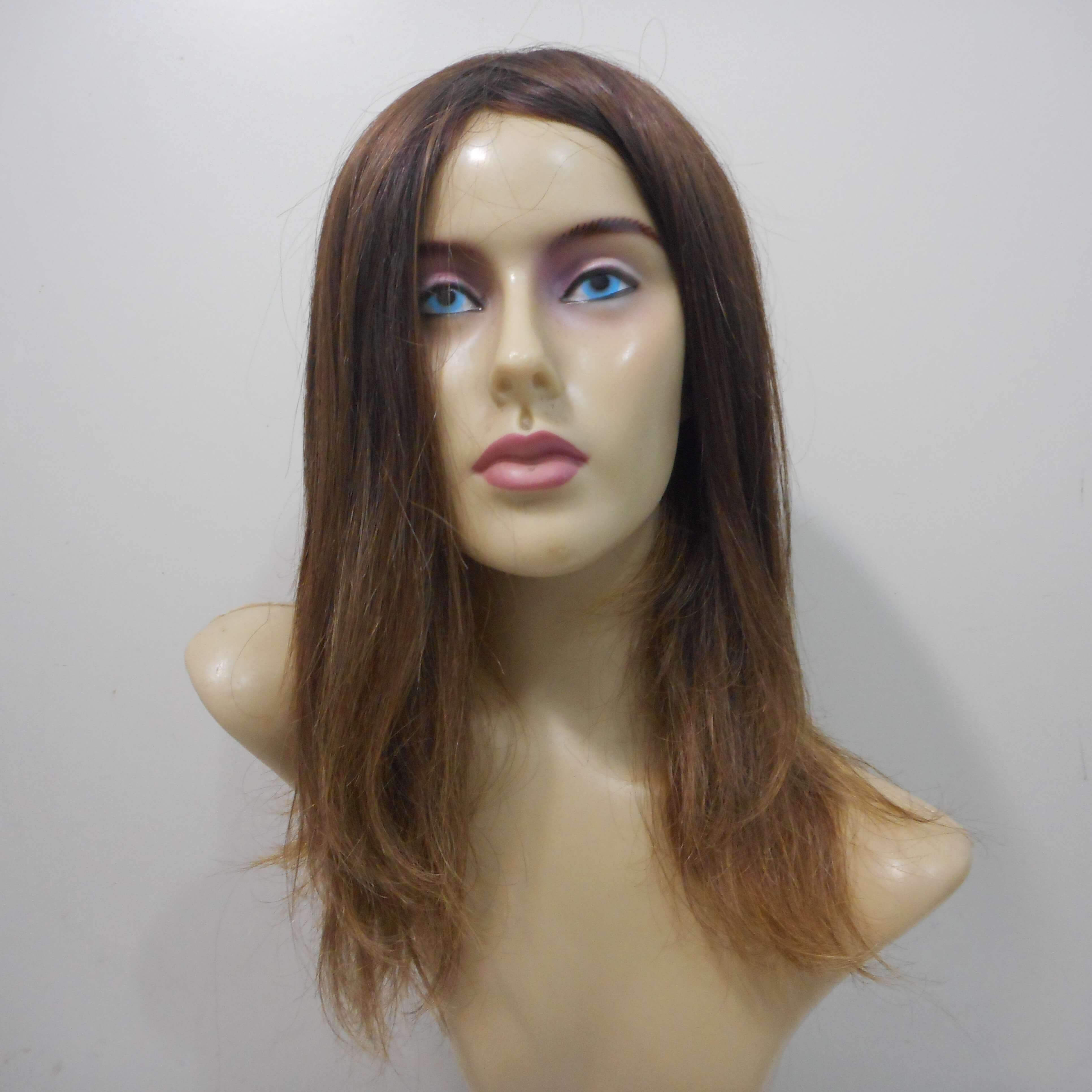 Peruca de cabelo natural loiro escuro