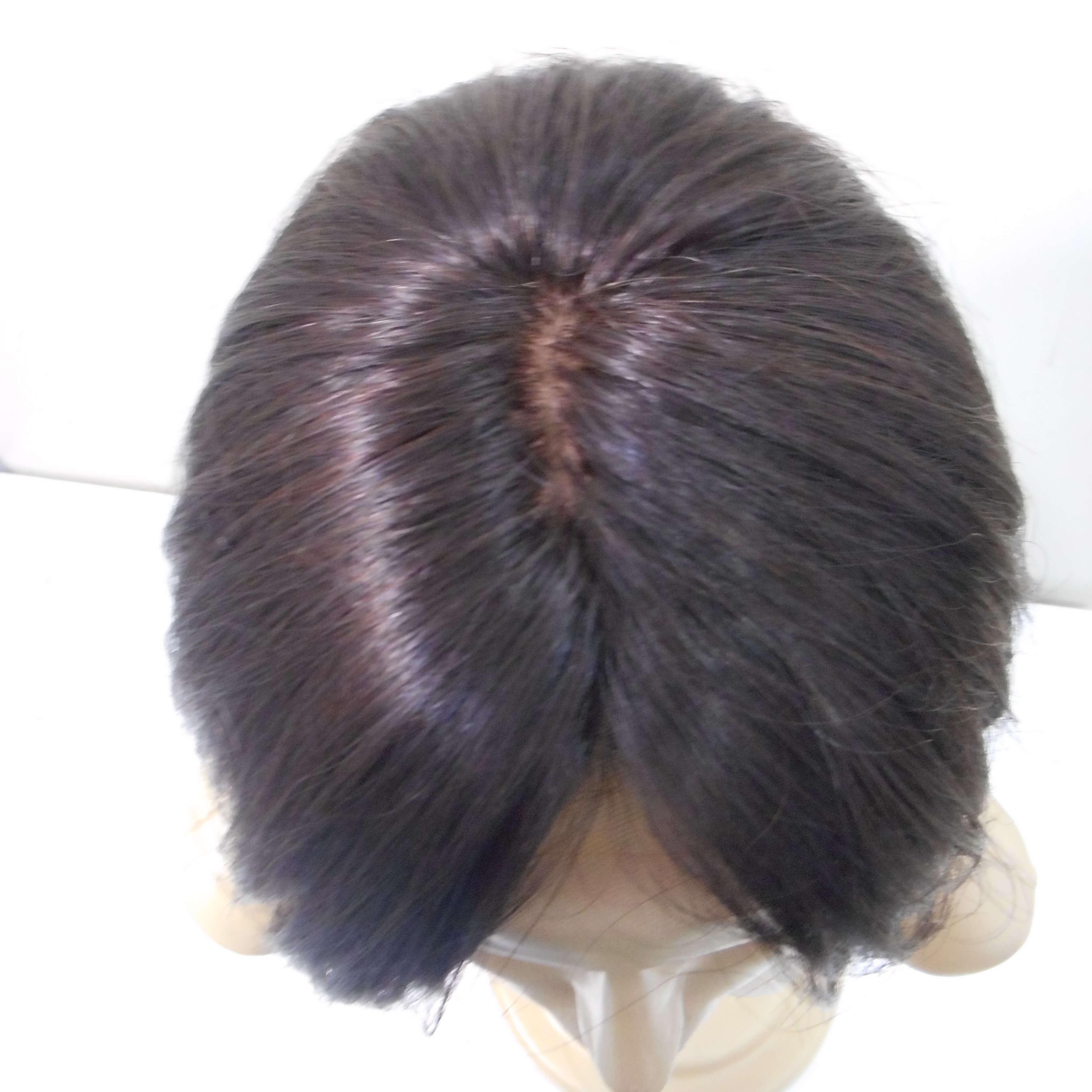 Peruca de cabelo natural castanho médio FULL LACE